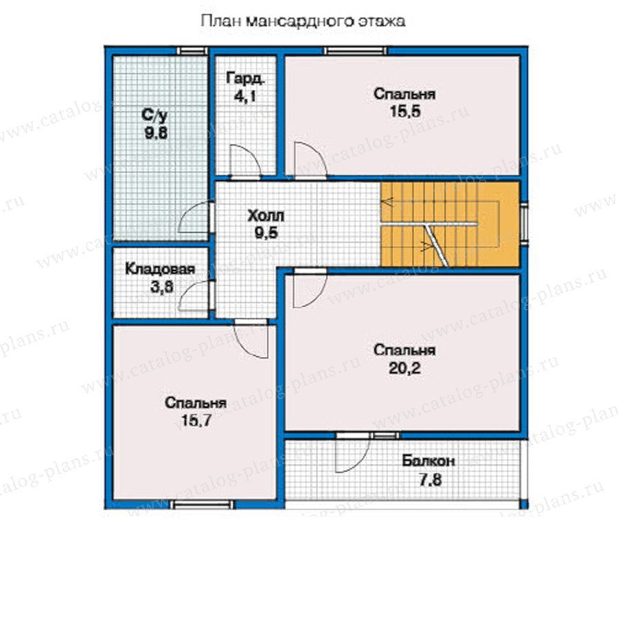План 2-этажа проекта 13-00