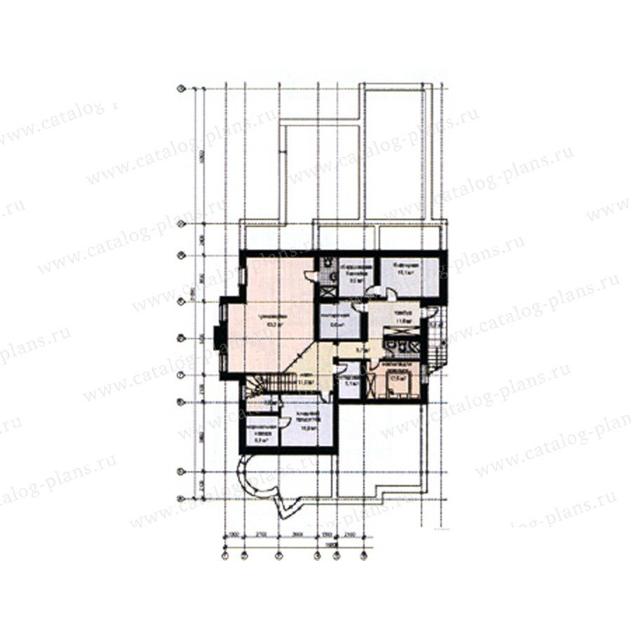 План 1-этажа проекта 31-08