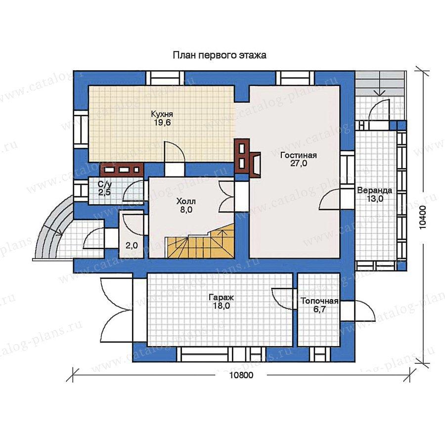 План 1-этажа проекта 31-87