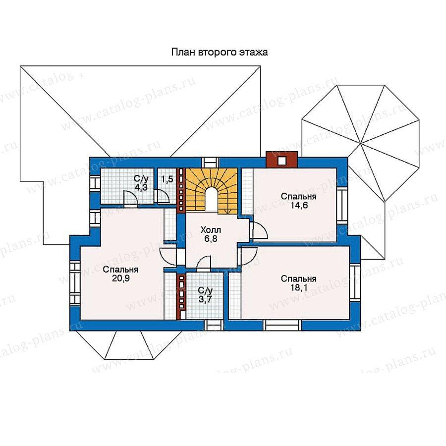 План 2-этажа проекта 30-61