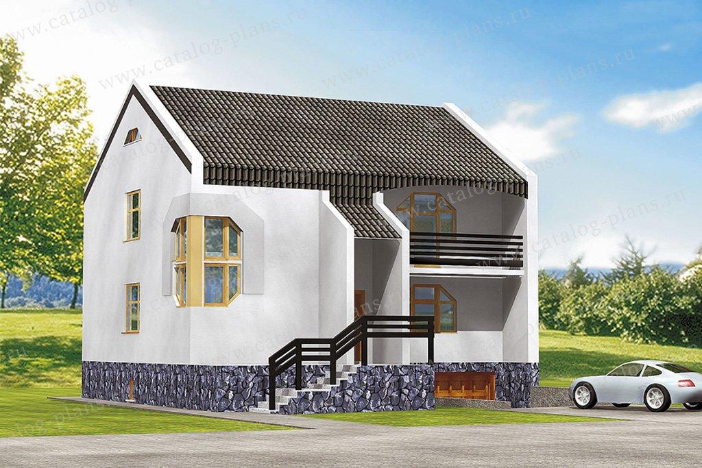 Проект жилой дом #31-32 материал - кирпич, стиль минимализм
