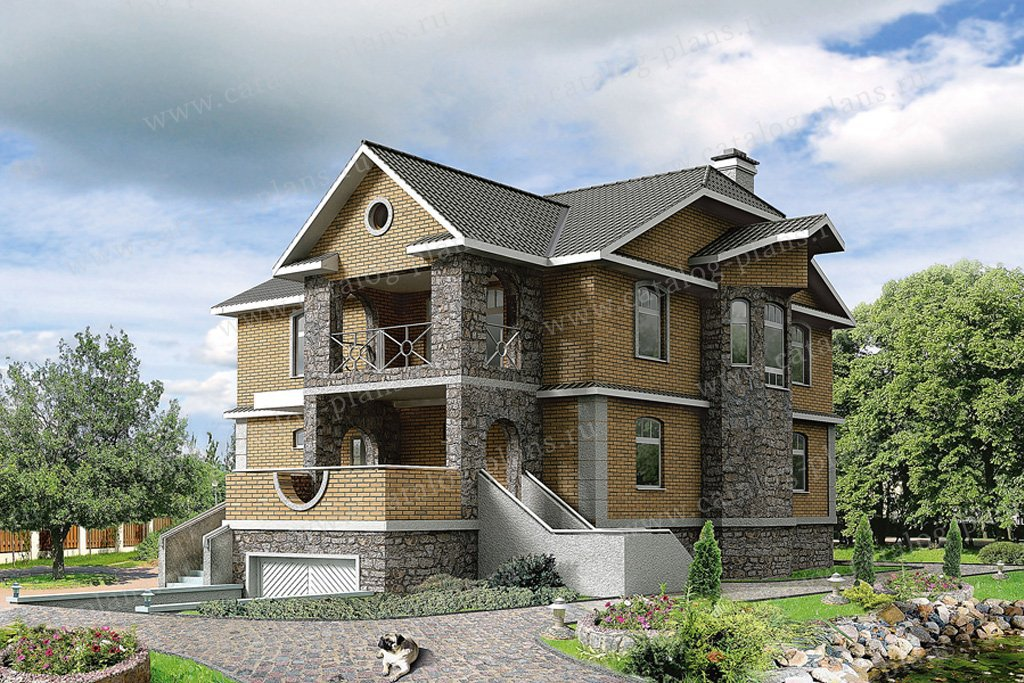 Проект жилой дом #31-00 материал - кирпич, стиль скандинавский