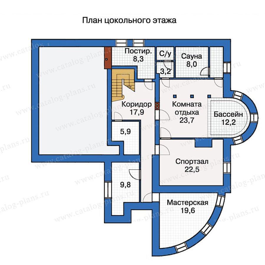 План 1-этажа проекта 30-53
