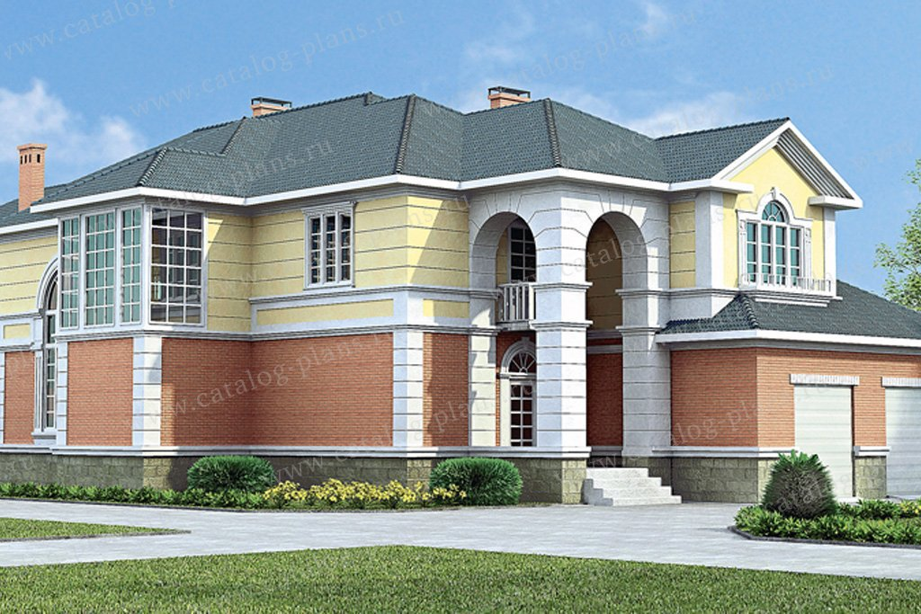 Проект жилой дом #30-57 материал - кирпич, стиль классический