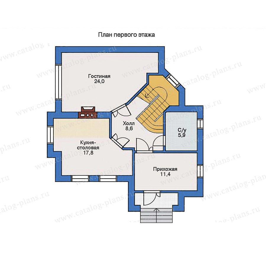 План 1-этажа проекта 31-64
