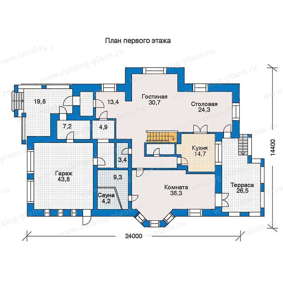 План 1-этажа проекта 30-58