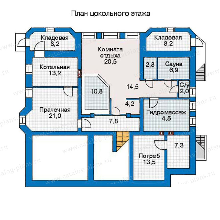 План 1-этажа проекта 30-88