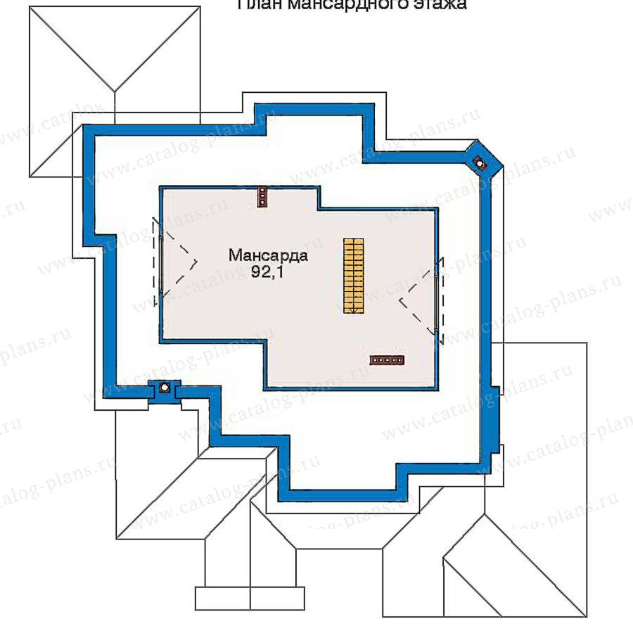 План 3-этажа проекта 30-59