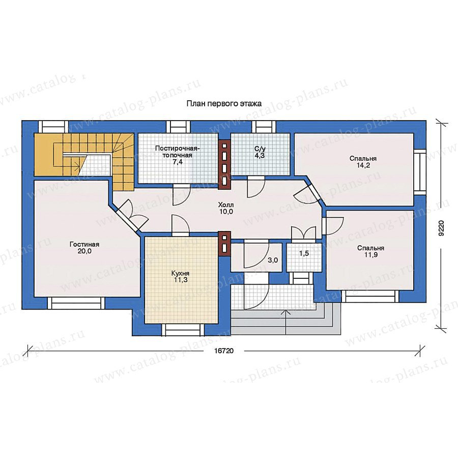 План 1-этажа проекта 31-86