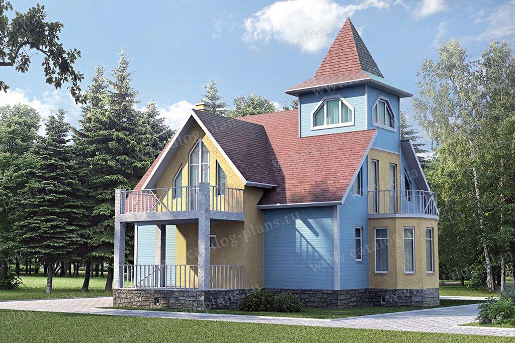 Проект жилой дом #30-54 материал - кирпич, стиль модерн