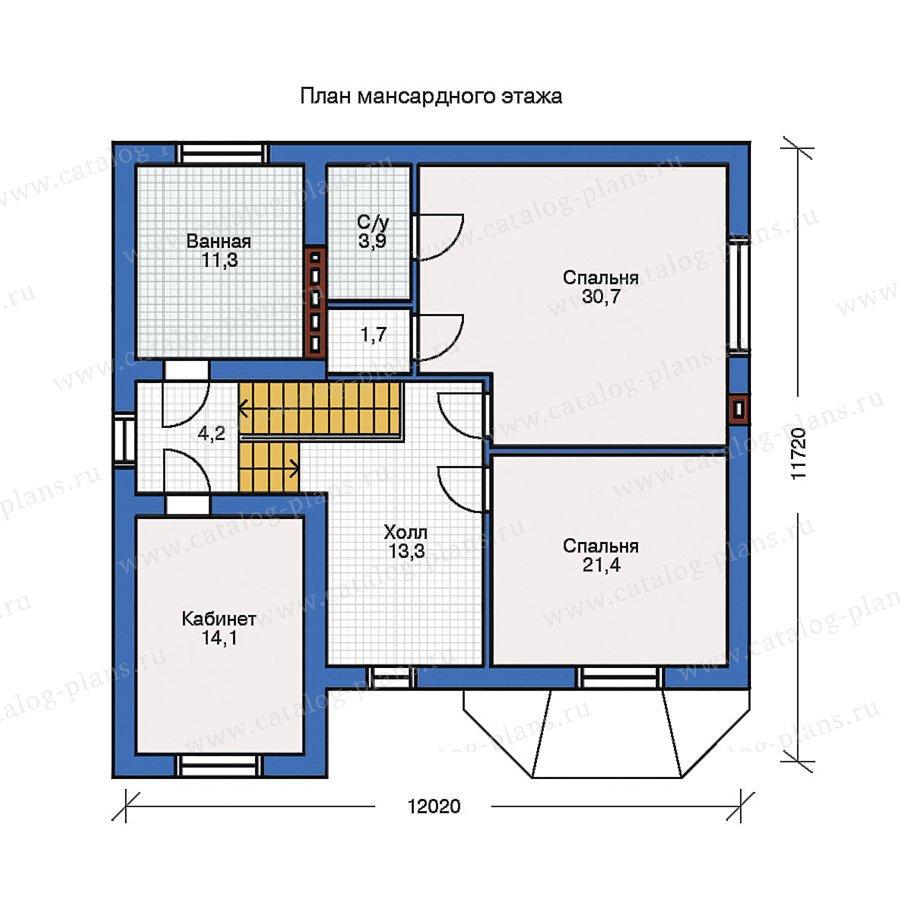 План 2-этажа проекта 31-70