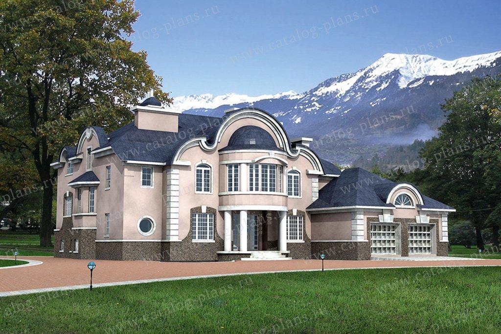 Проект жилой дом #31-25 материал - кирпич, стиль классический