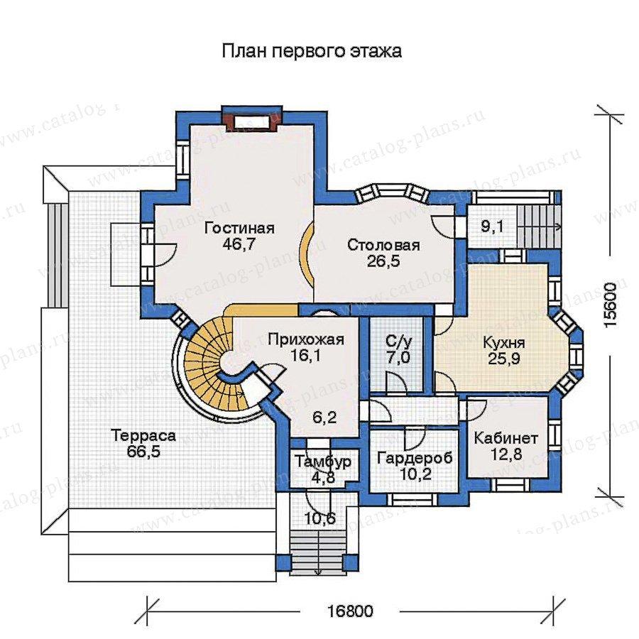 План 2-этажа проекта 31-14