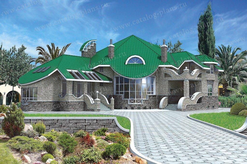 Проект жилой дом #31-23 материал - кирпич, стиль модерн