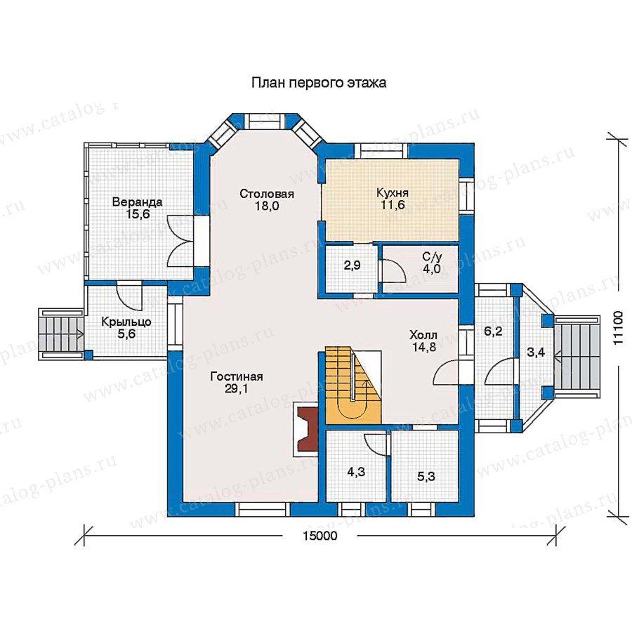 План 1-этажа проекта 30-95