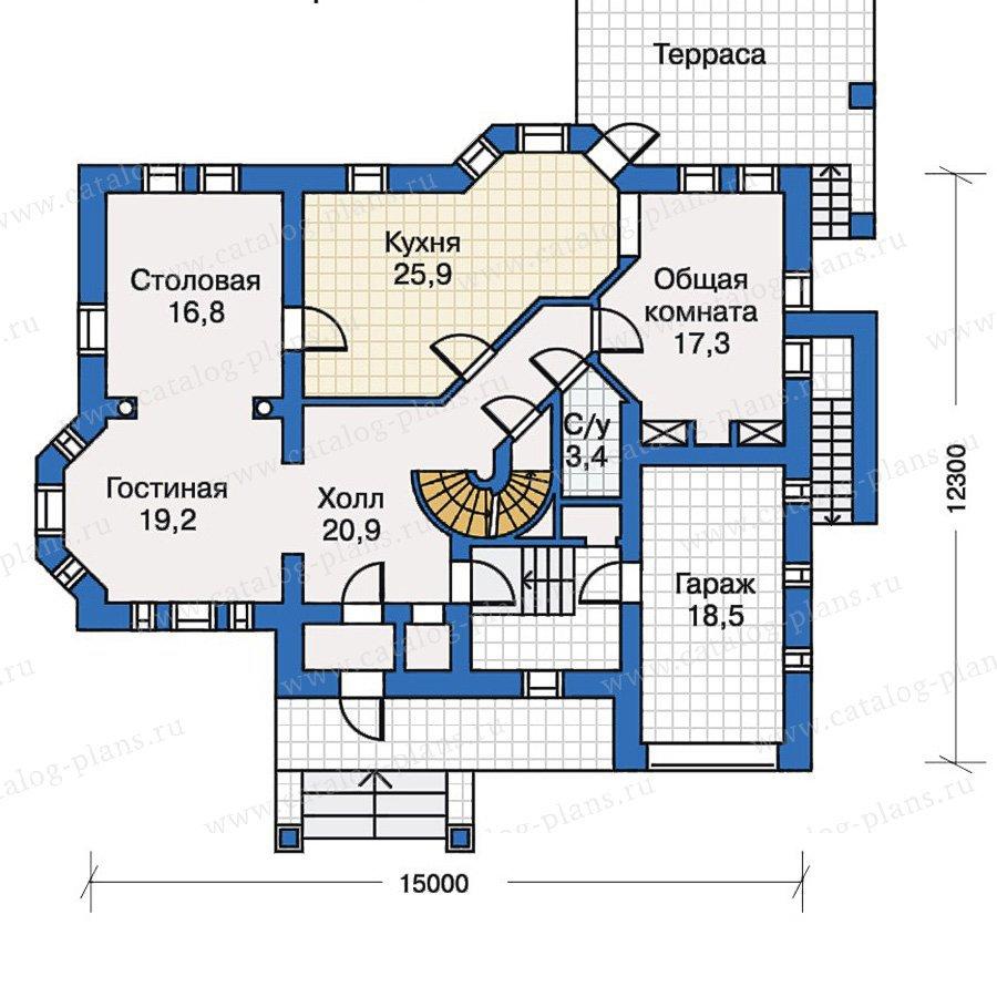 План 2-этажа проекта 30-63