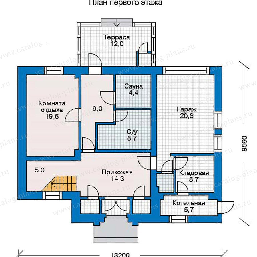 План 1-этажа проекта 30-50