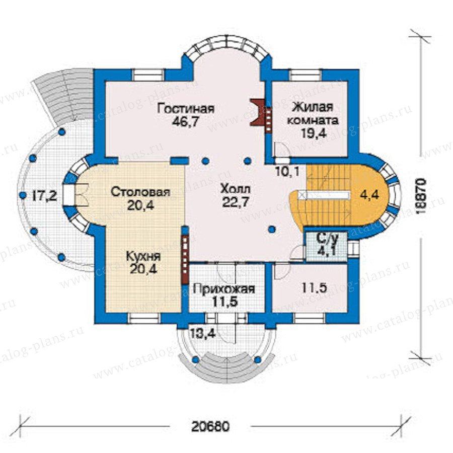 План 2-этажа проекта 31-24