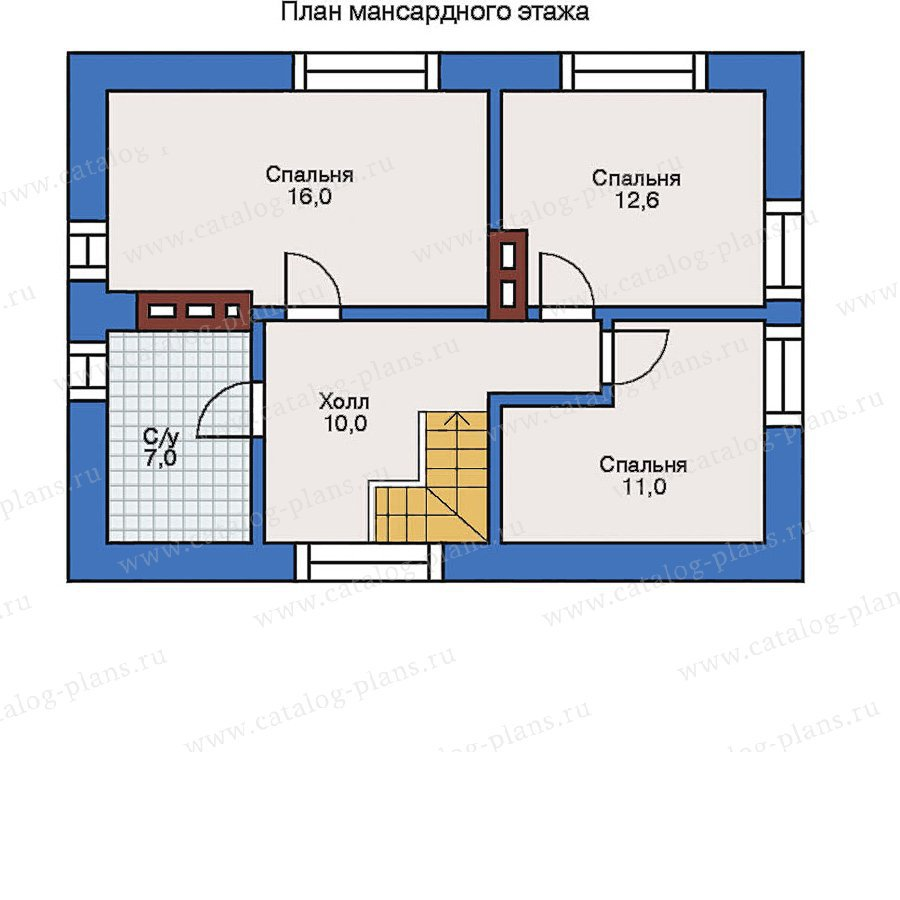 План 2-этажа проекта 31-87