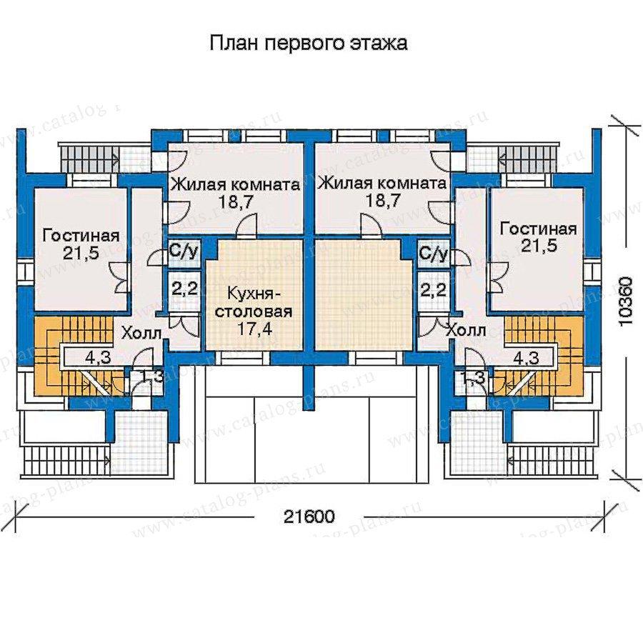 План 2-этажа проекта 30-97