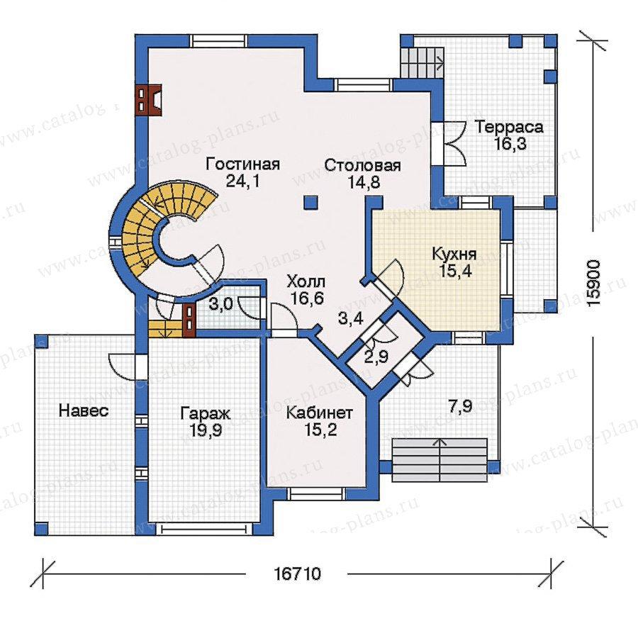 План 2-этажа проекта 31-15