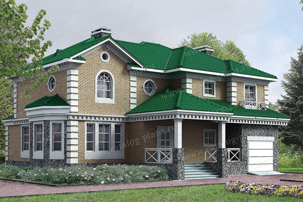 Проект жилой дом #30-63 материал - кирпич, стиль классический