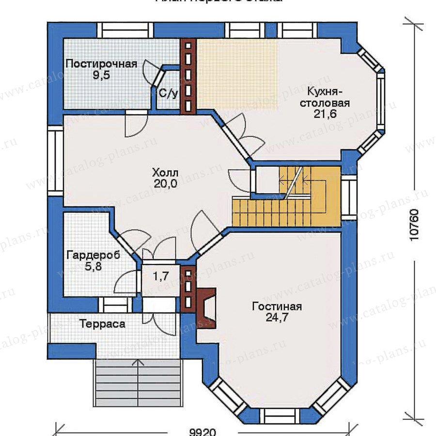 План 2-этажа проекта 31-83