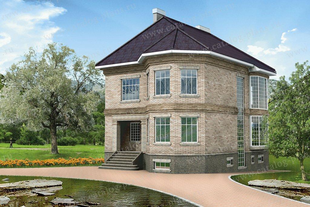 Проект жилой дом #31-83 материал - кирпич, стиль английский