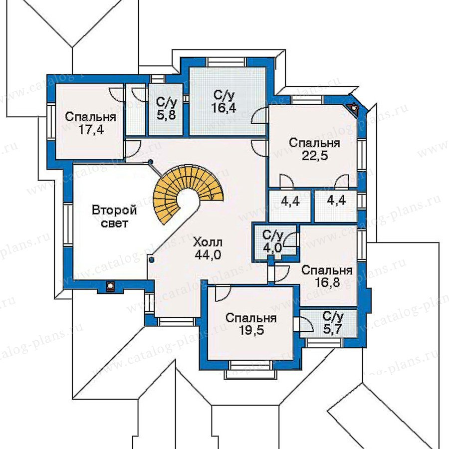 План 2-этажа проекта 30-59