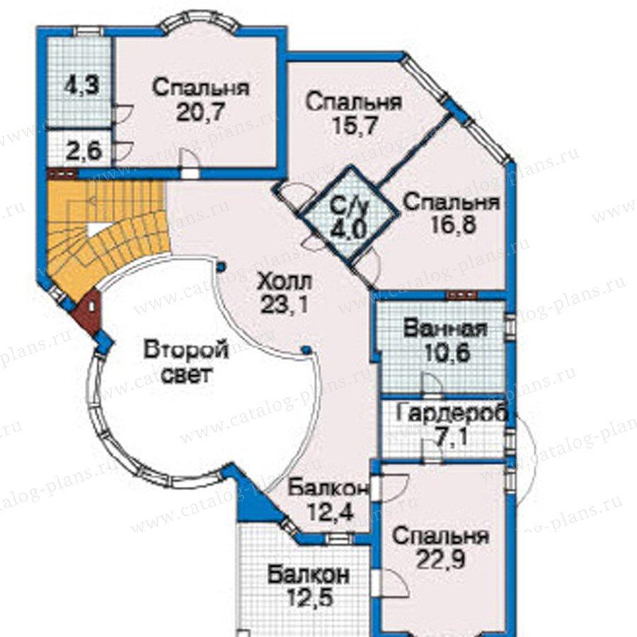 План 3-этажа проекта 31-23