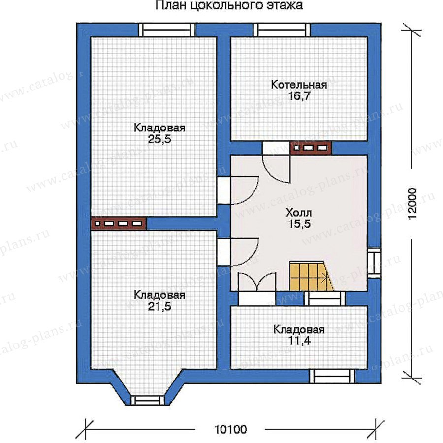 План 1-этажа проекта 31-90