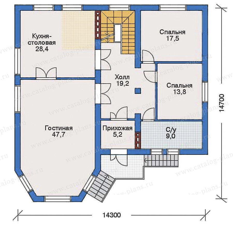 План 2-этажа проекта 31-71