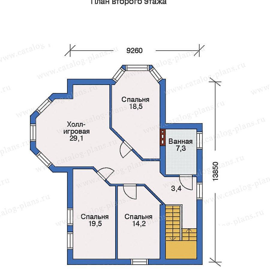 План 3-этажа проекта 31-65
