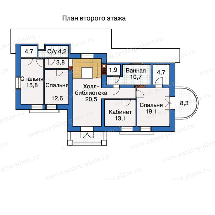 План 3-этажа проекта 30-52