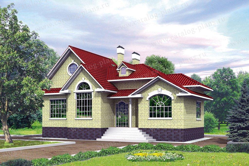 Проект жилой дом #31-86 материал - кирпич, стиль американский
