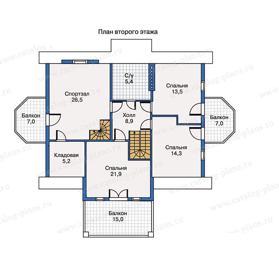 План 2-этажа проекта 30-54