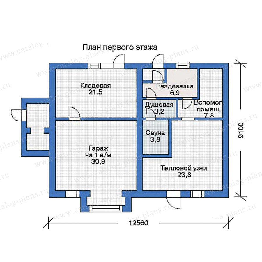 План 1-этажа проекта 31-03