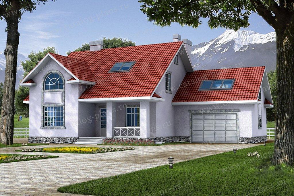 Проект жилой дом #31-66 материал - кирпич, стиль европейский