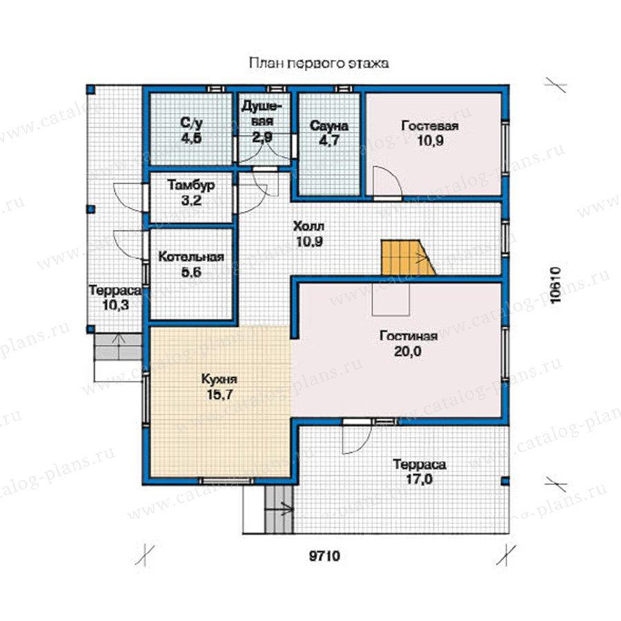 План 1-этажа проекта 13-00