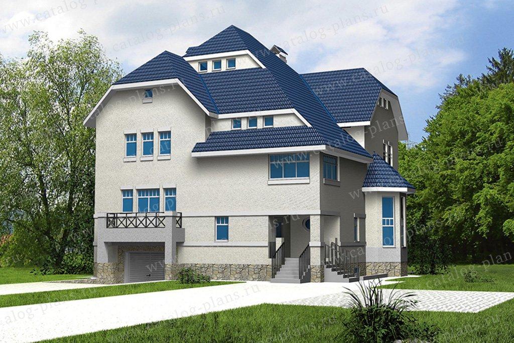 Проект жилой дом #31-97 материал - кирпич, стиль европейский