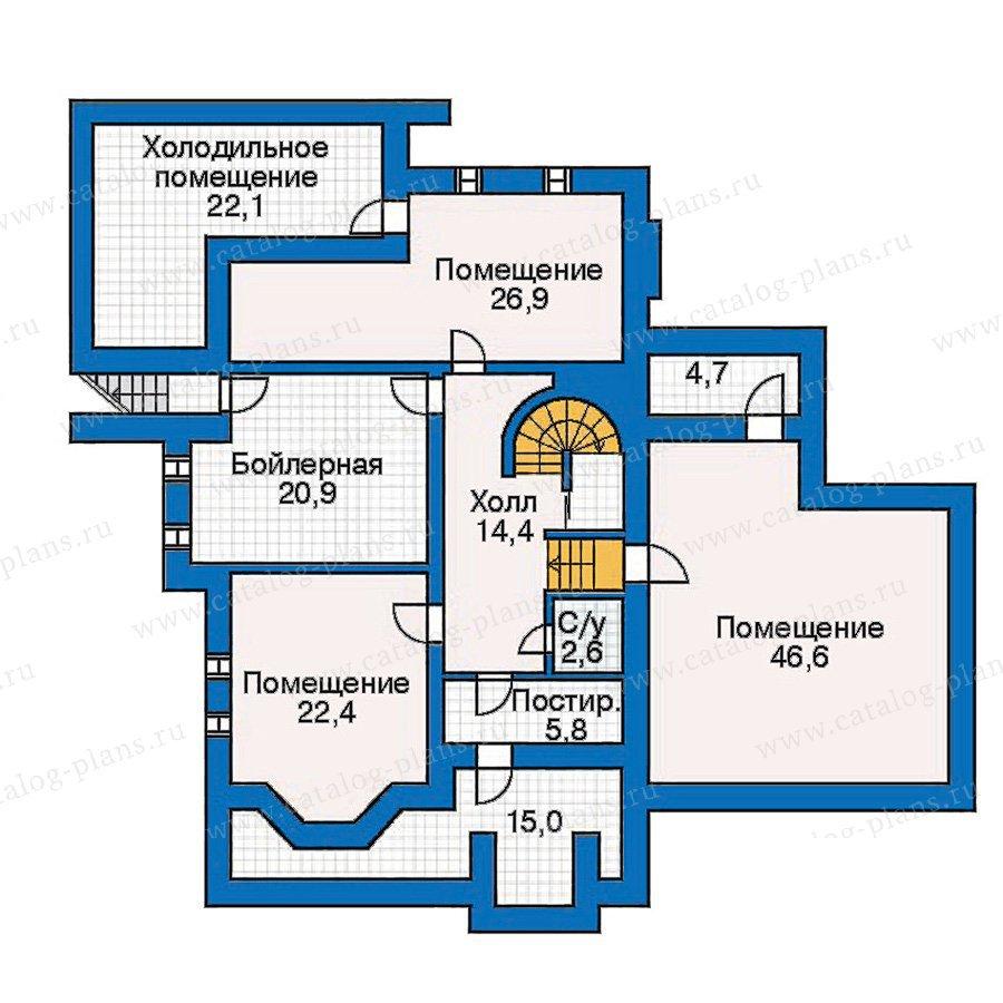 План 1-этажа проекта 30-56
