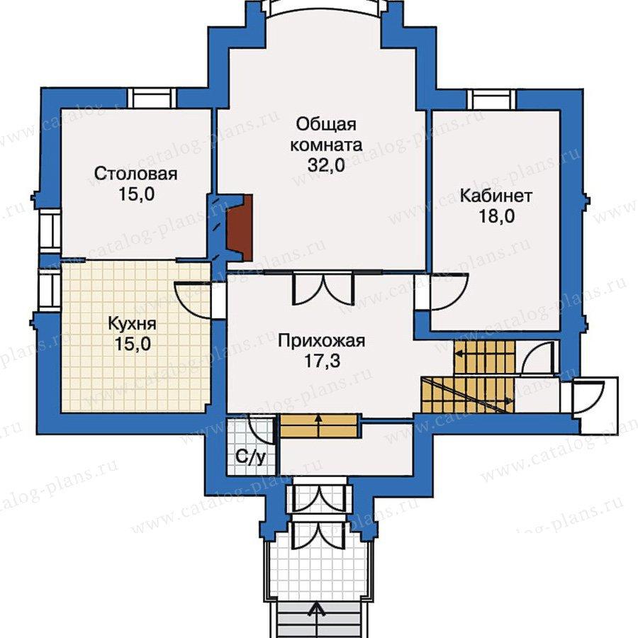 План 2-этажа проекта 30-43