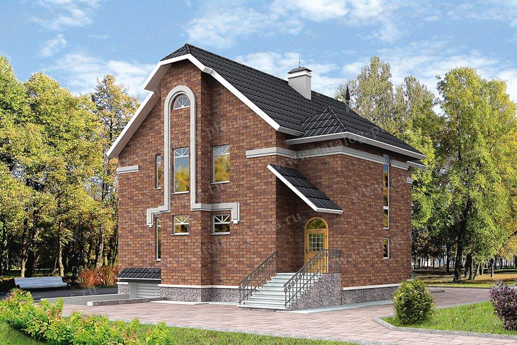 Проект жилой дом #30-46 материал - кирпич, стиль модерн