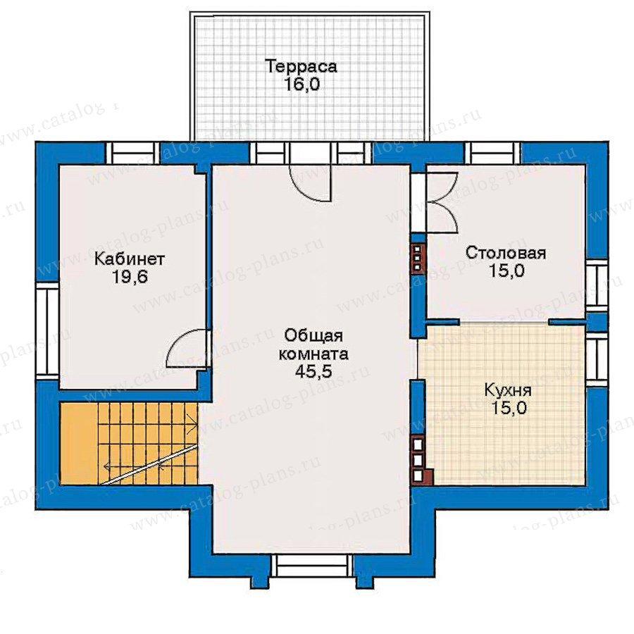 План 2-этажа проекта 30-50