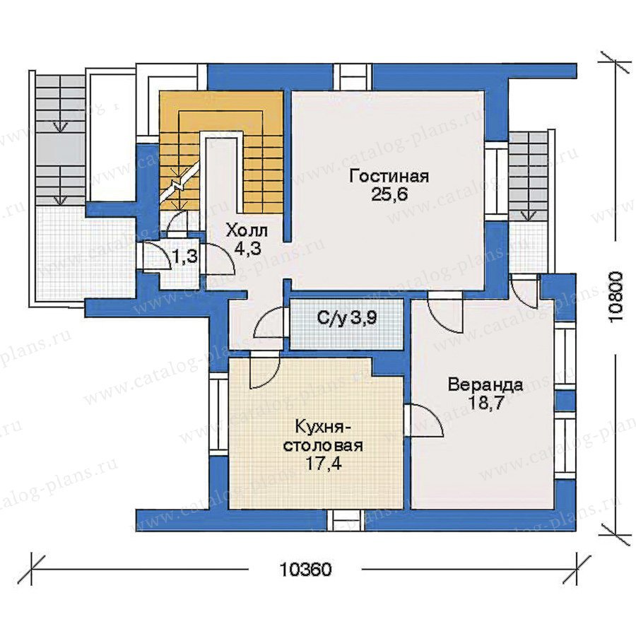 План 2-этажа проекта 31-32