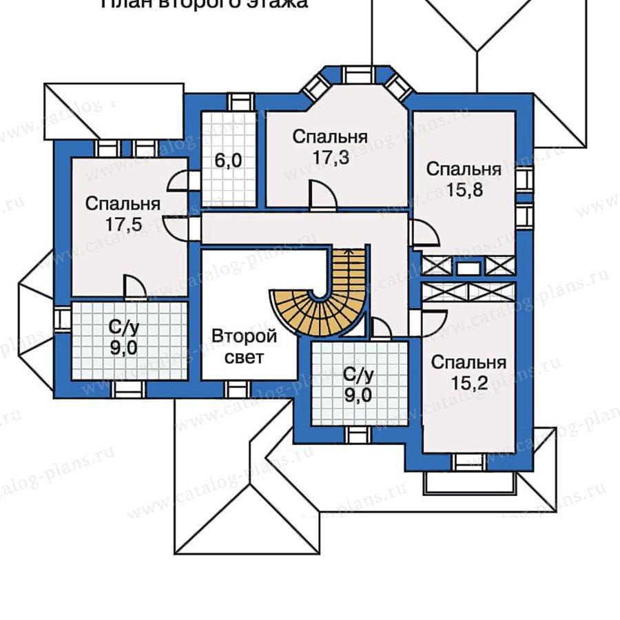 План 3-этажа проекта 30-63
