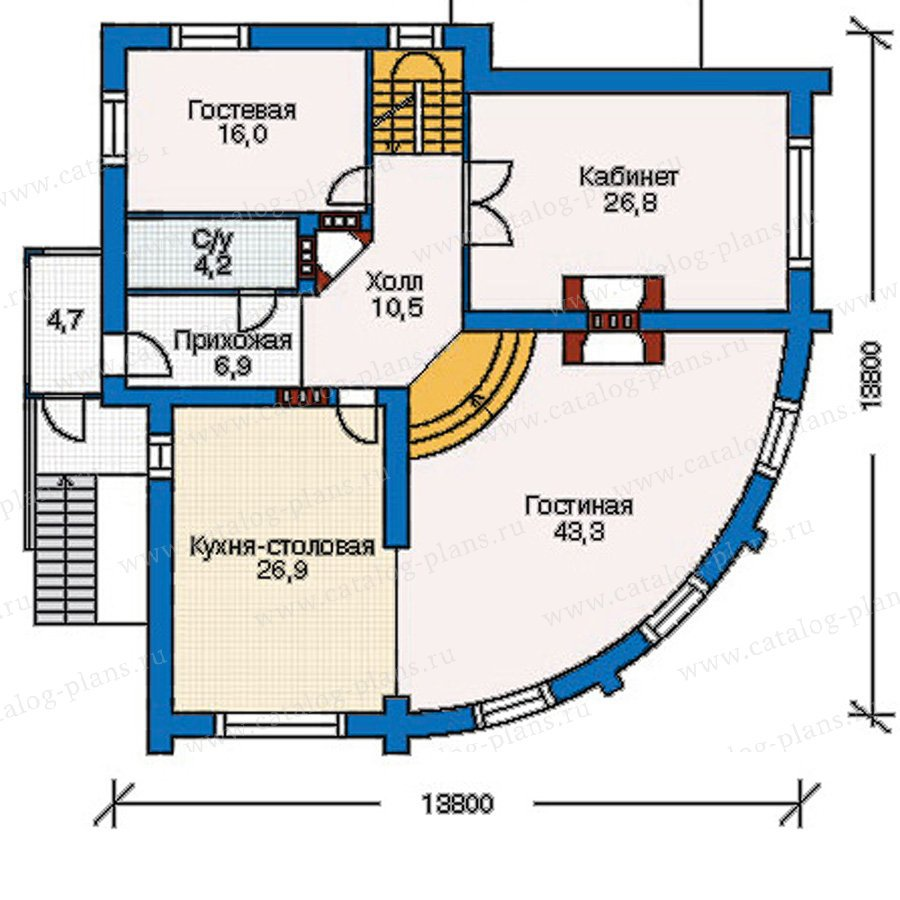 План 2-этажа проекта 30-94