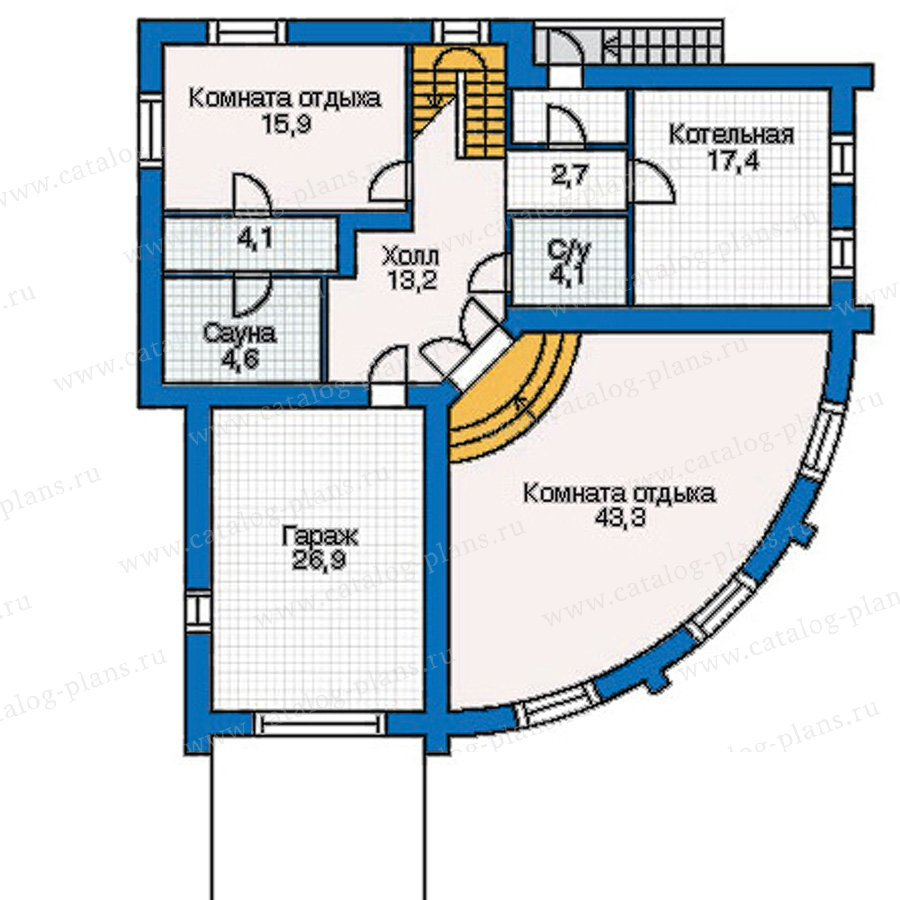 План 1-этажа проекта 30-94