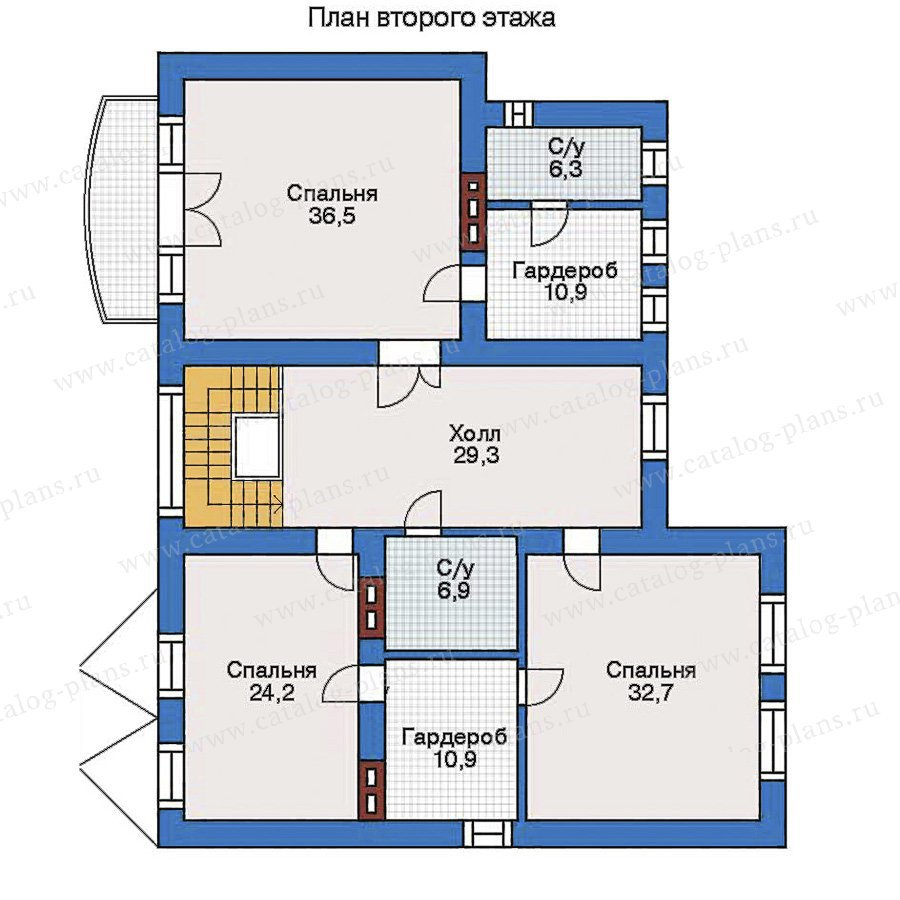 План 3-этажа проекта 31-61