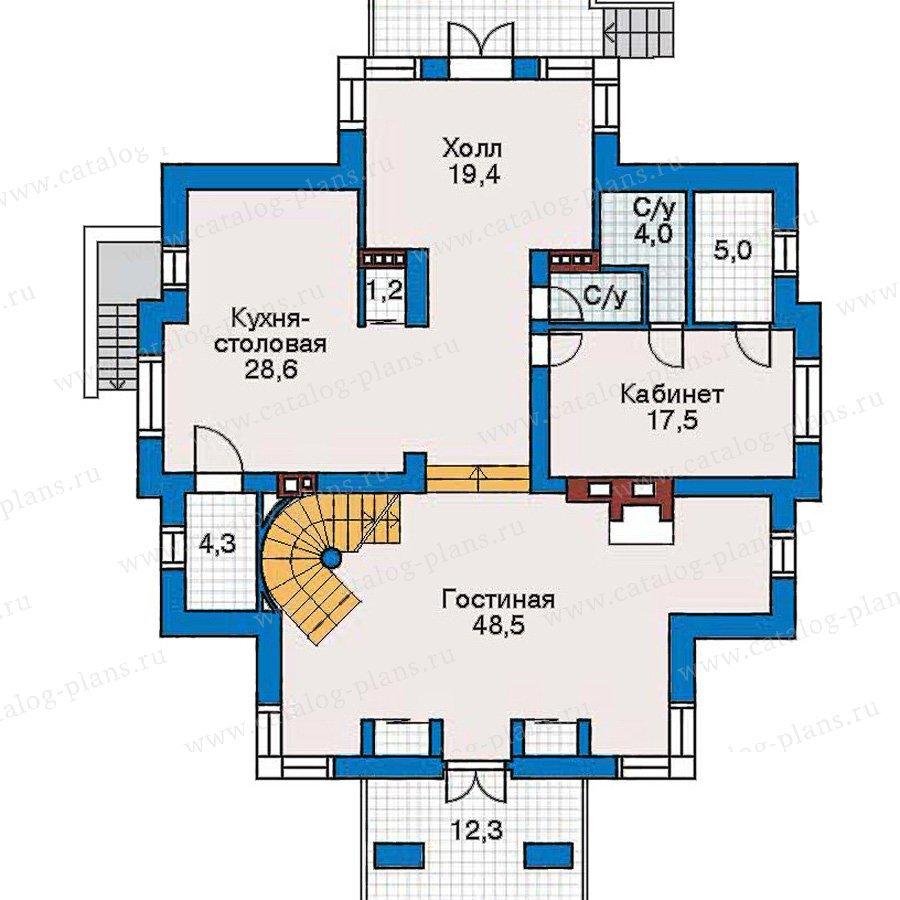 План 2-этажа проекта 30-51